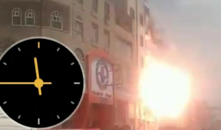 شاهد بالفيديو : الكشف عن أسباب الحريق الهائل الذي إلتهم منزل أحد المغتربين اليمنيين  بالعاصمة صنعاء ( فيديو )