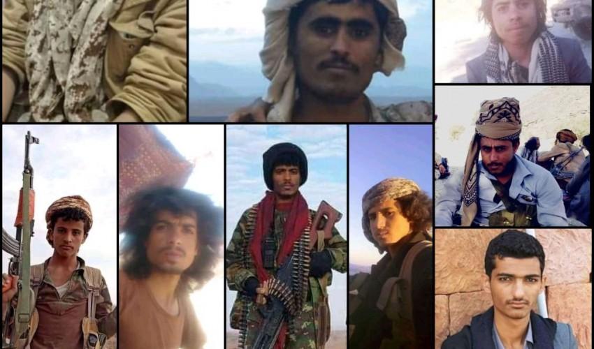 بينهم ثلاثة ضباط .. مقتل 18 مُجندا من قوات هادي خلال الساعات الماضية في جبهة نخلا بمأرب ( اسماء + صور )