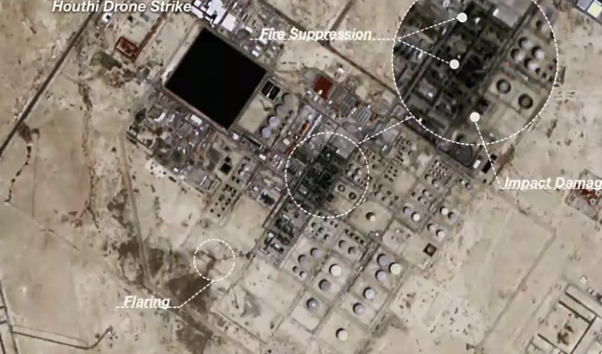 شاهد بالصورة .. حجم الدمار  الذي لحق بمصفاي النفط في السعودية بعد استهدافها من قبل الحوثيين ( صور )